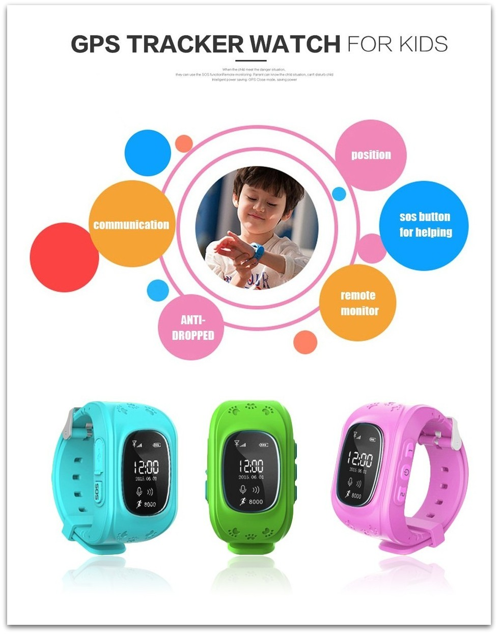 Q50 Smart Watch GPS Tracker for Kids