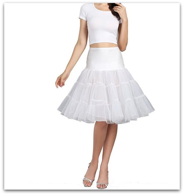 Grace Karin Dámská spodnička kolová pod šaty bílá 5fa0a4c1e9