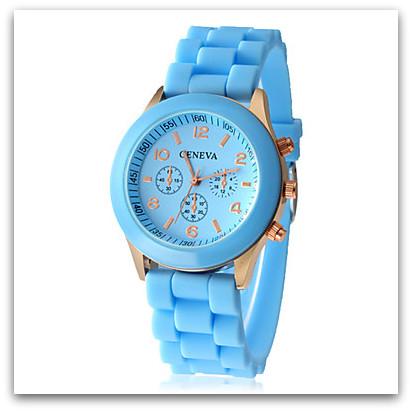 HODINKY GENEVA UNISEX 10764545-5 světle modrá d1000ba8b8c