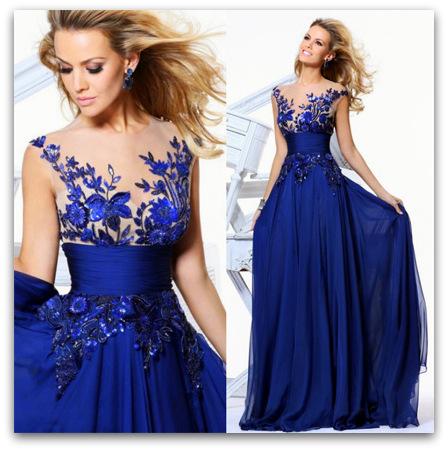 F4H Luxusní společenské ŠATY dlouhé 37302-3 modrá fe35ba2ea51