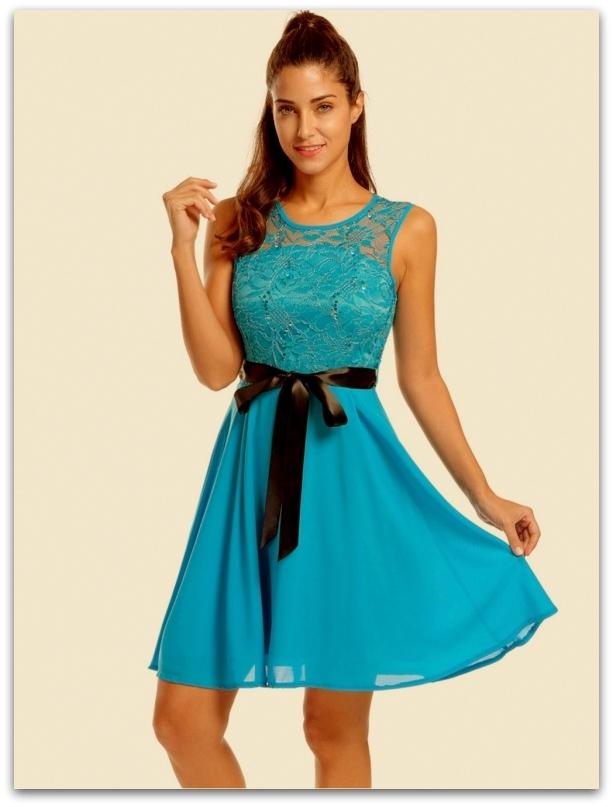 de79020f1115 Společenské šaty s krajkou MINI 705107-4 podrá XS   S