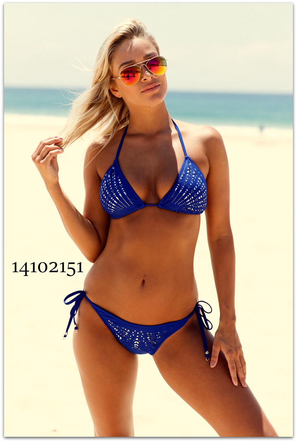 Dvoudílné dámské PLAVKY   BIKINY 14102151-3 modrá M 47ac5e177d