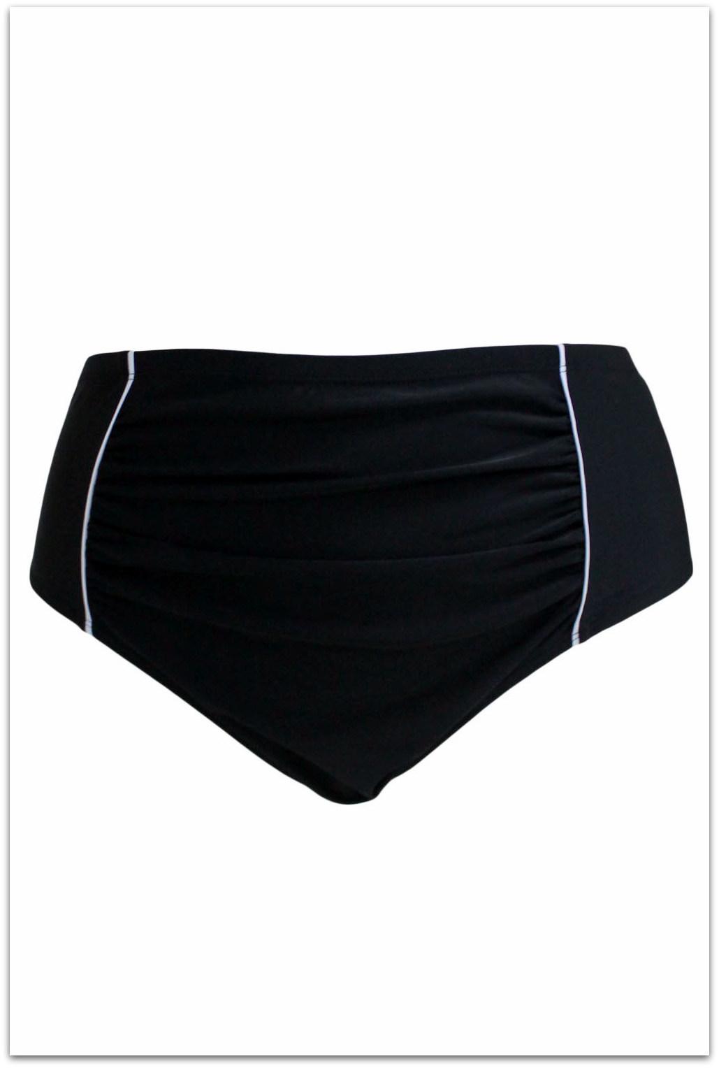 46c7948736f Spodní díl dámské PLAVKY BIKINY kalhotky vyšší 1410030-2 černá XL   XXL