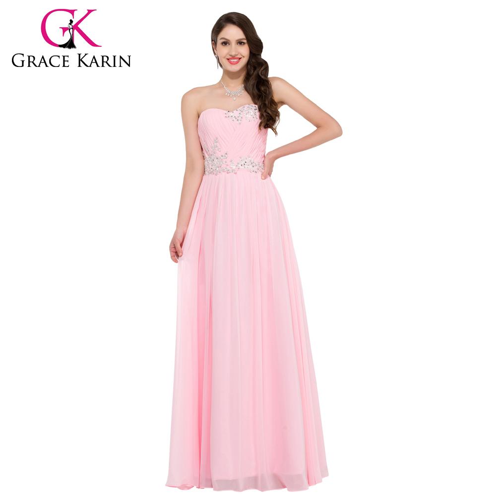Luxusní plesové šaty GRACE KARIN® dlouhé CL6107-2 růžová XXS - 3XL (skladem b0134945a2b