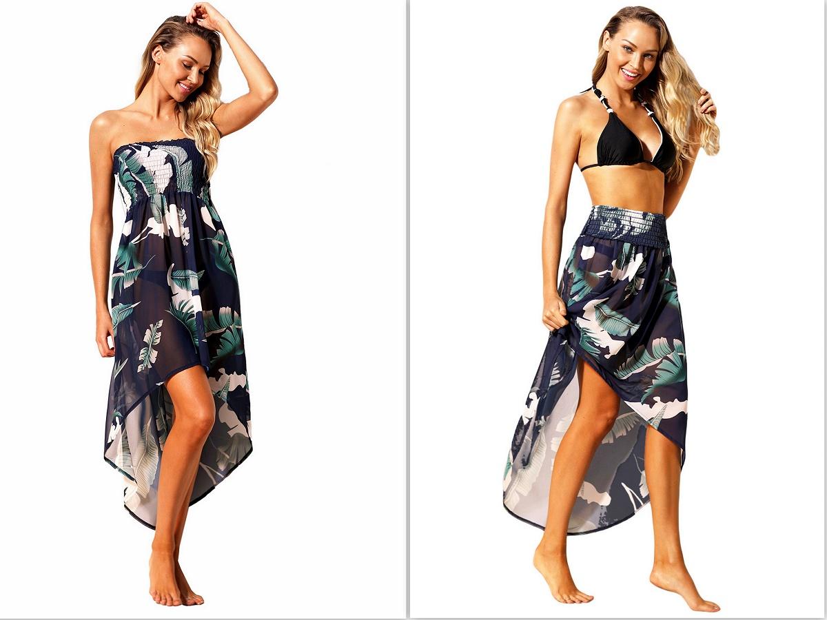259fe2758180 F4H Plážové letní šaty   sukně 1422781-5 modrá