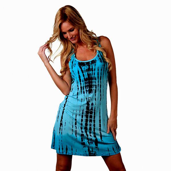 5c836c7371d6 Letní ŠATY MINI BATIKA 4538421-1 modrá L   XL