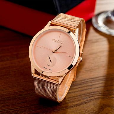97e77e28fd4 WoMaGe dámské hodinky kovové 6980001-3 růžová