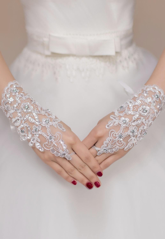 50ffa16aa5b Svatební rukavice krajka 173112 bílá UNI
