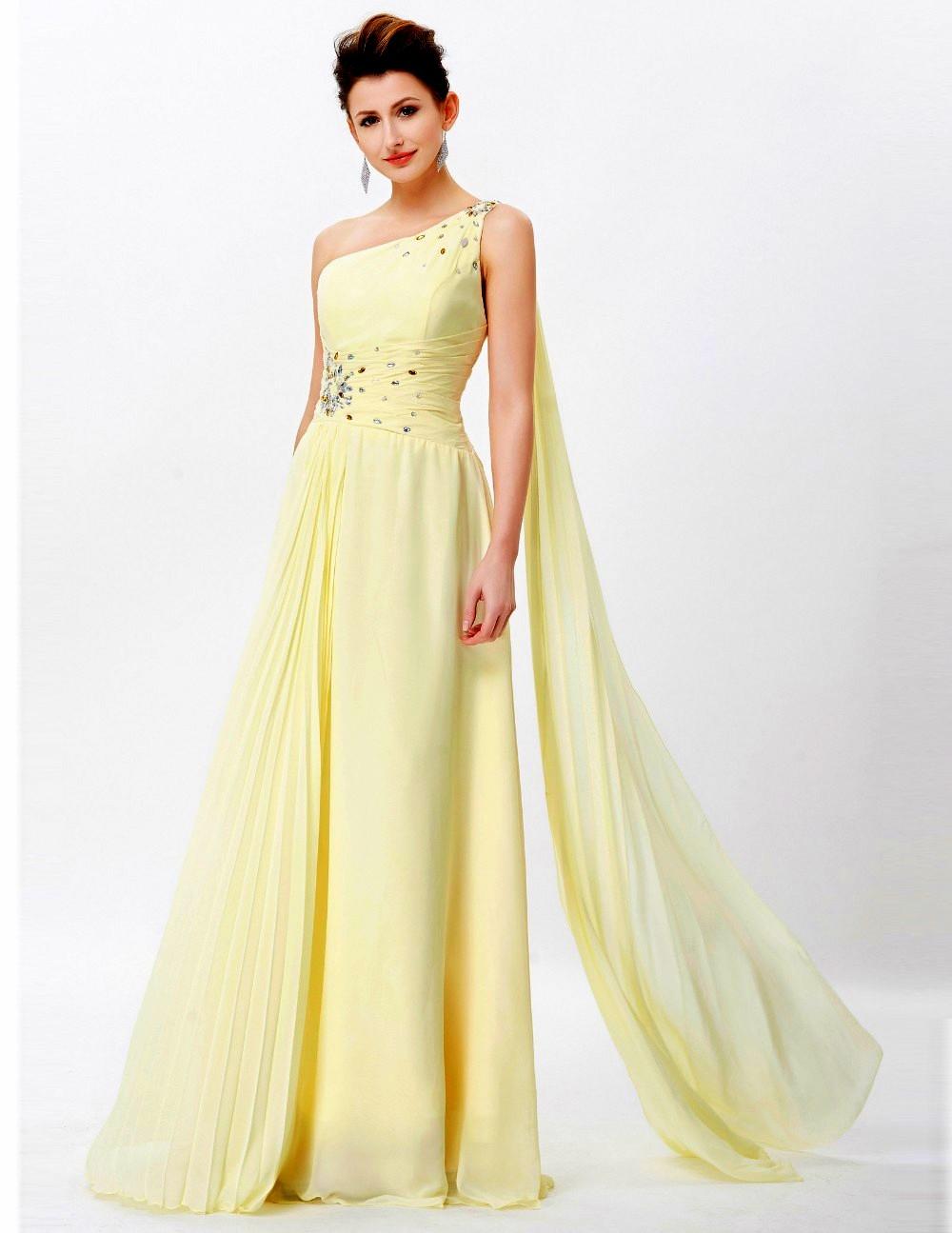 ... Luxusní plesové šaty GRACE KARIN dlouhé CL6066 žlutá S   36 0654d4ae168