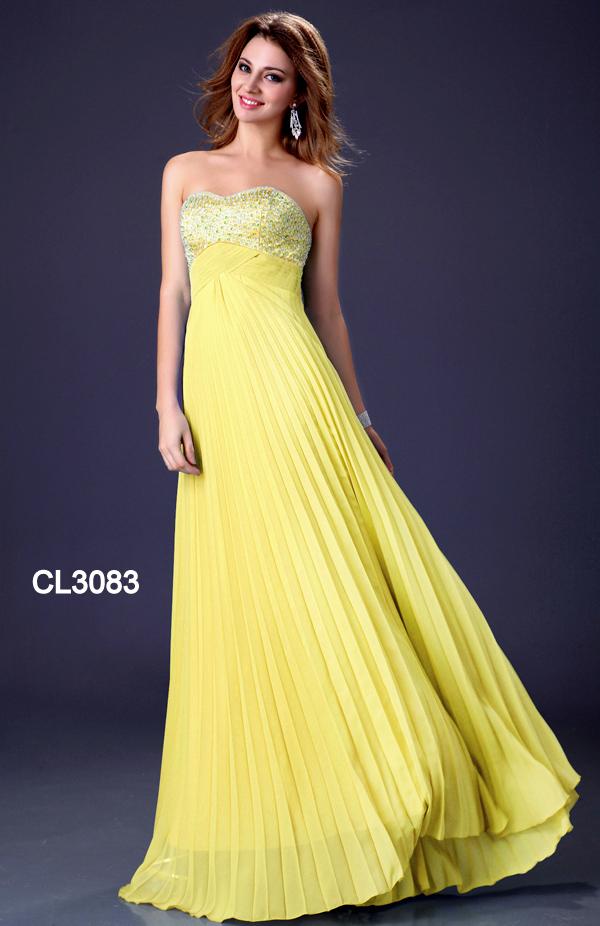 ... Luxusní plesové šaty GRACE KARIN dlouhé CL3083 žlutá M   38 eb098fd5cb5