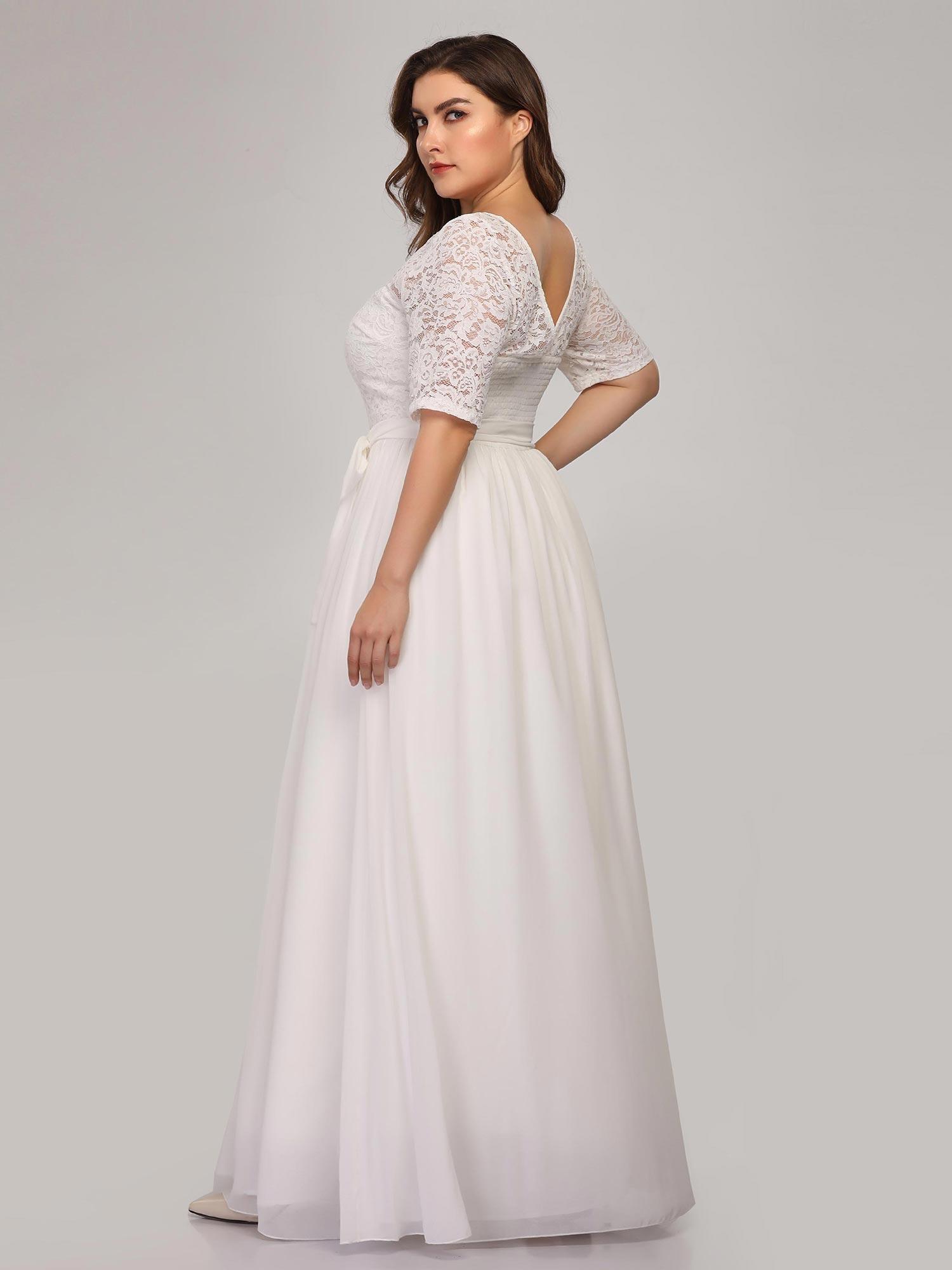 b638743885 ... Svatební dlouhé ŠATY 3307624-1 bílá XXL  3XL   4XL