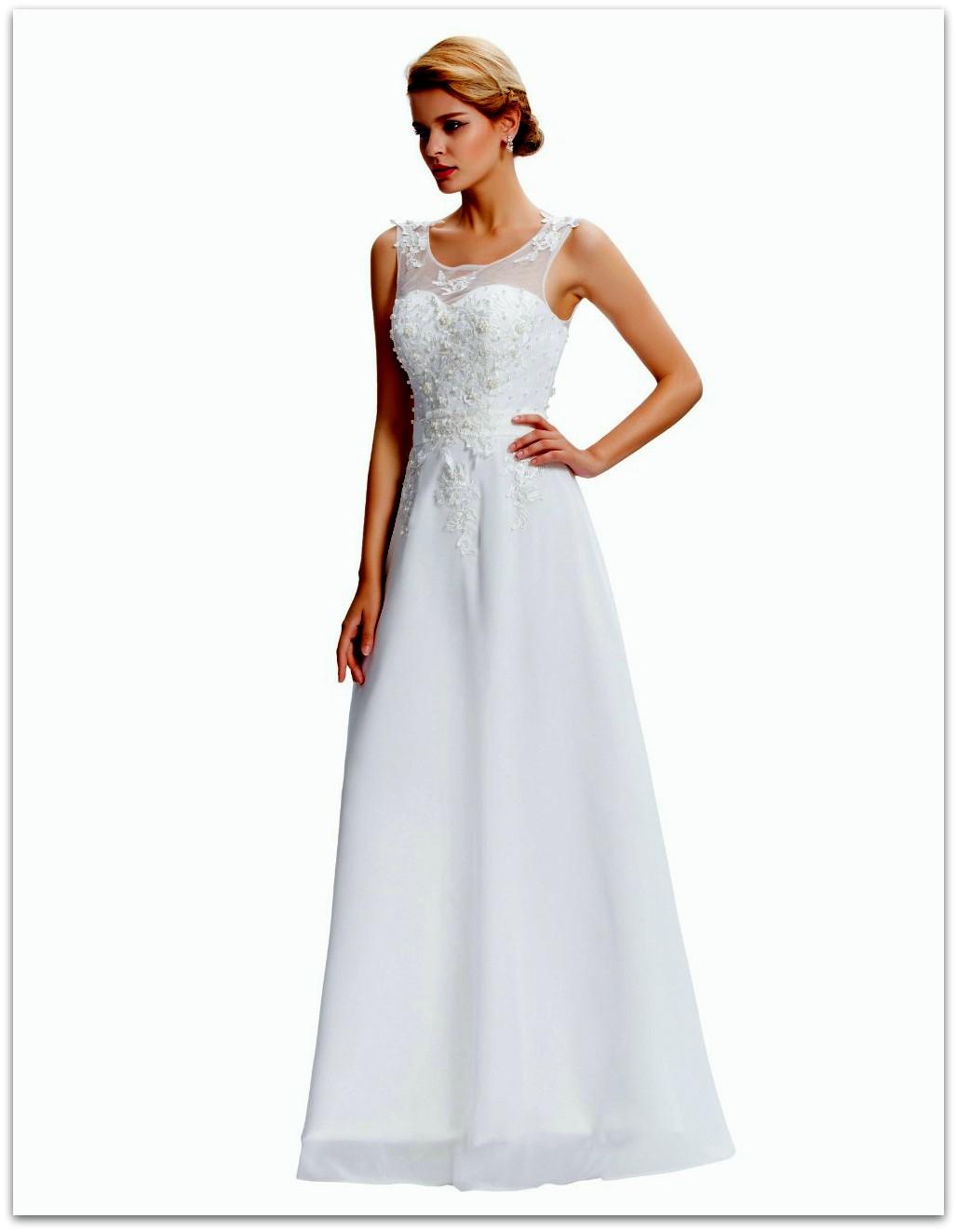 GRACE KARIN Svatební ŠATY dlouhé GK 7555 bílá XXS - 3XL (skladem  XS 2ecd8bc980