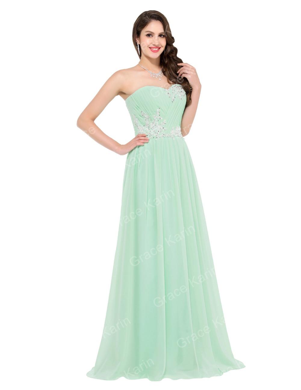 Luxusní plesové šaty GRACE KARIN® dlouhé CL6107-1 zelená L   40 7b783df4b85