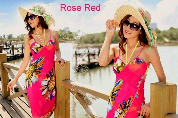 81ef7c767b1e Plážové šaty zavinovací UNI růžová 701144-5