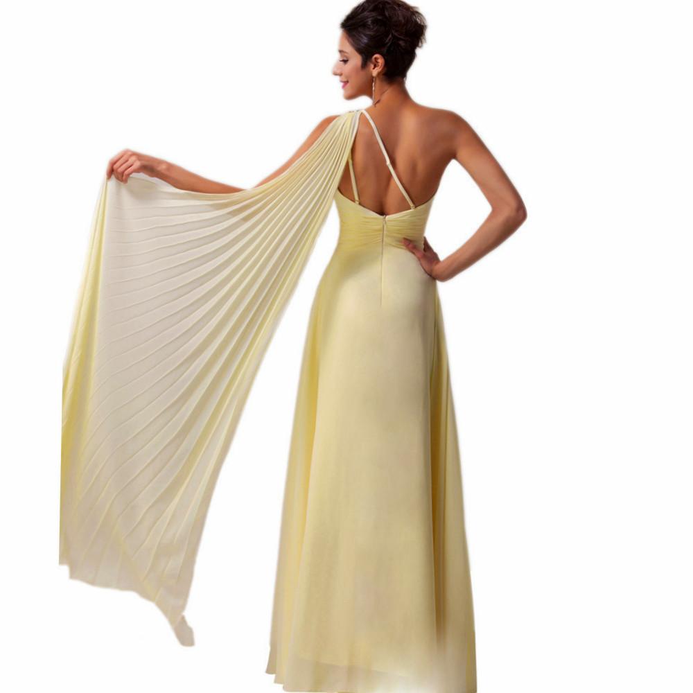 b5e6633a698 Luxusní plesové šaty GRACE KARIN dlouhé CL6066 žlutá S   36