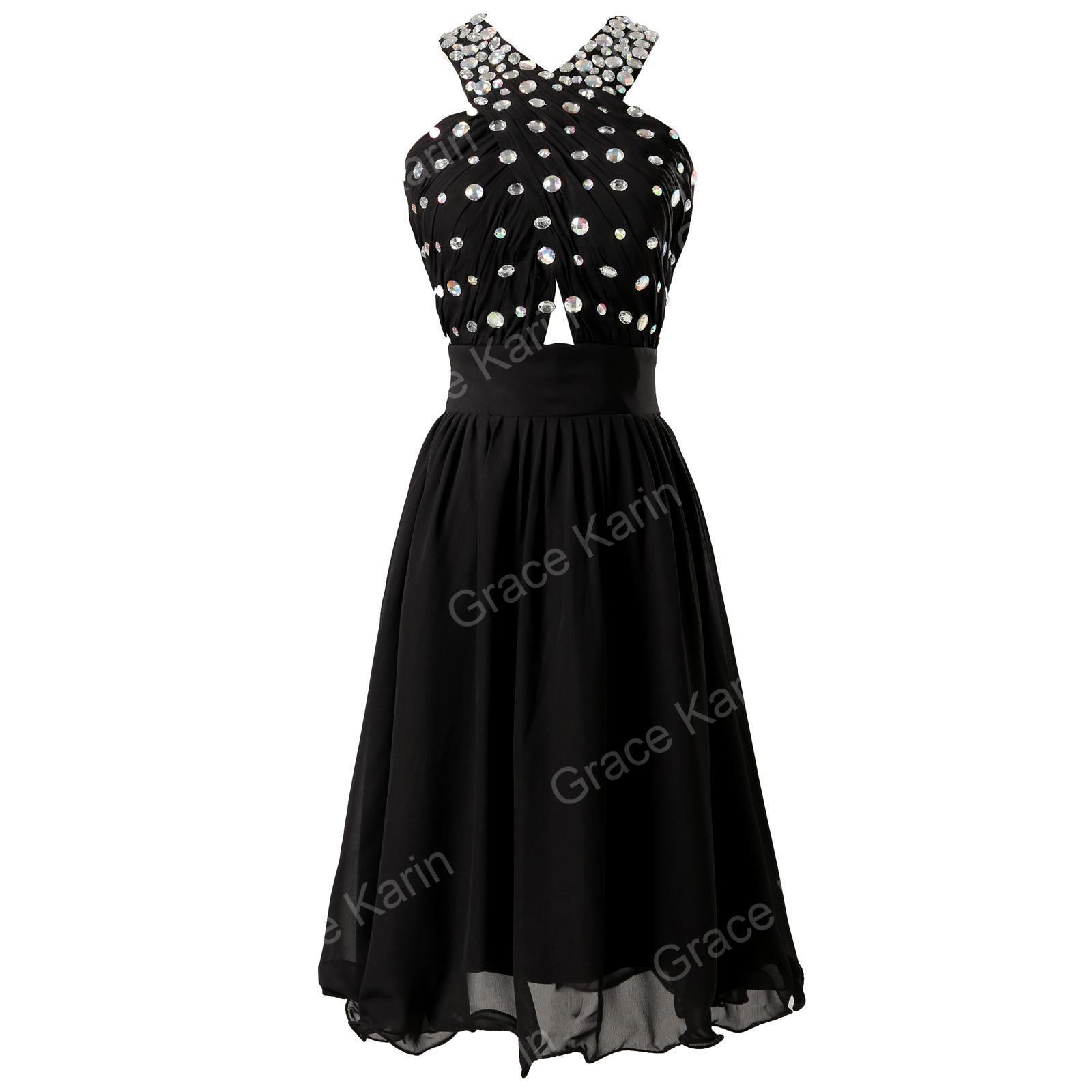 Luxusní společenské ŠATY GK GRACE KARIN CL6018 černá S 36 28fe013a00