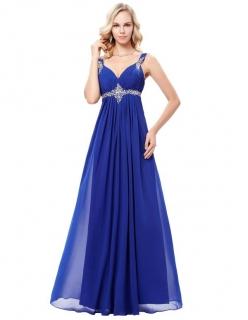 f6646a80e38a Luxusní plesové šaty GRACE KARIN dlouhé GK000129-1 modrá L   40 ...