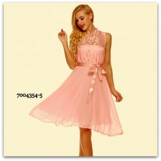 Plesové šaty s krajkou MINI 7004354-5 růžová XS S 114b8677d8f