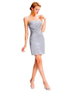 GRACE KARIN Luxusní společenské ŠATY GK3826 stříbrná L   40 67b0a4b5e7