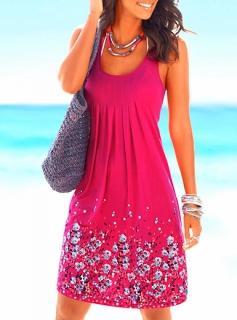 Plážové šaty 605395541-1 růžová M 80aa3e6f18